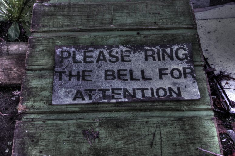 Please ring the bell for attention