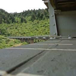 The view of the viaduct from the platform beneath