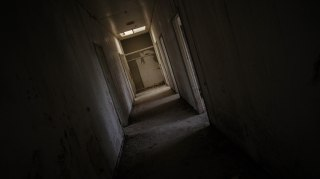 Prison outhouse corridor