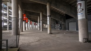 Under the stands