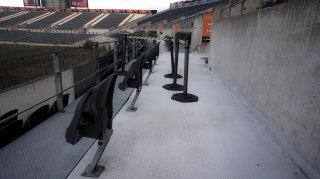 Seats and barrier