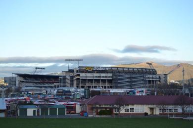 Stadium view from afar