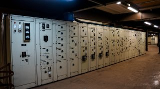 Controls inside turbine room