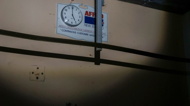 The clock used to tick.