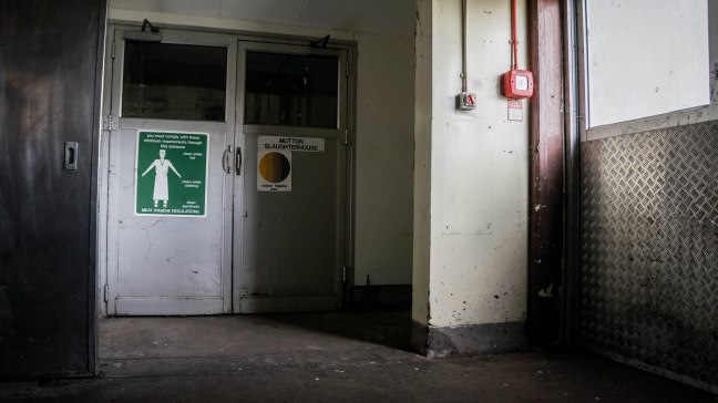 Slaughterhouse entrance