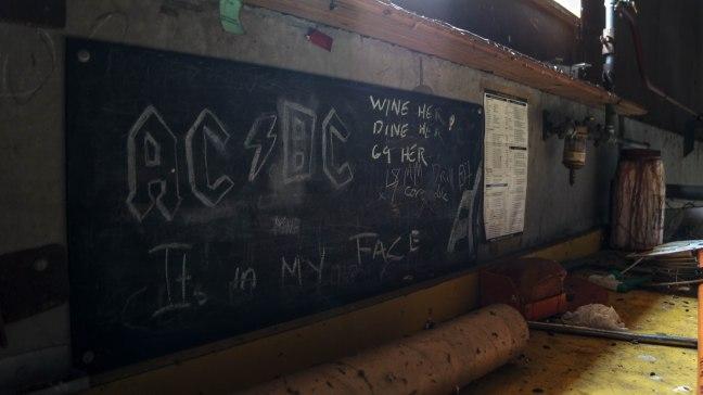 Graffiti in the workshop